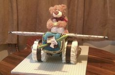 Airplane diaper cake made by my friends and I
