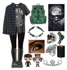 """""""☾It is sinking,falling down☾"""" by kaninekiller ❤ liked on Polyvore featuring Dorothy Perkins, Burberry, Dr. Martens, Freddie Grove, Disney, Funko, Uniqlo and Child Of Wild"""
