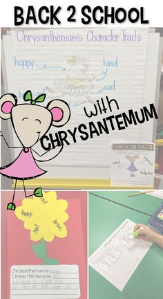 The perfect book for back to school, Chrysanthemum by Kevin Henkes will teach your students to love their name and more with this common core aligned unit full of lesson plans for your first grade class.