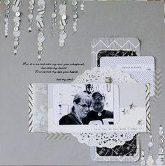 #papercraft #scrapbook #layout    right here-right now