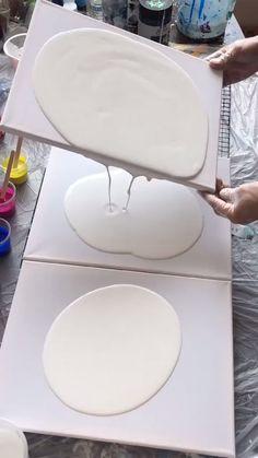 Diy Canvas Art, Diy Wall Art, Diy Art, Acrylic Pouring Art, Acrylic Art, Abstract Oil, Abstract Canvas, Diy Resin Art, Diy Painting