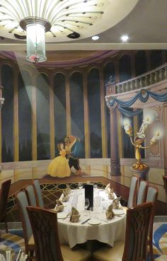 Lumiere's Restaurant on the Disney Magic