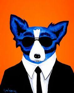 Musings of an Artist's Wife: Blue Dog Man, 1996- 1999