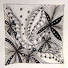 Escara's Zentangle: Muster-Mixer # 13