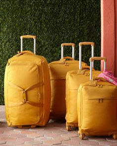 Soft sided luggage in #mustard http://rstyle.me/n/gesuhnyg6