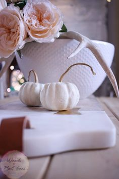 Make a simple centerpiece for fall, that gives you a little taste of summer and…