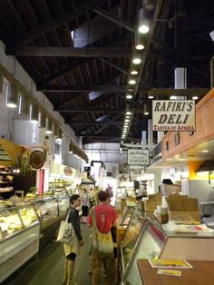 Rafiki's Deli in Central Market Lancaster, PA. Food is not just about the Amish.