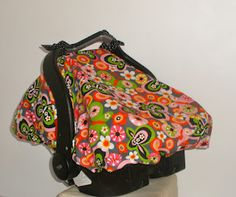 Quick-Tips Sewing: Tutorial: Car Seat Canopy With Elastic. I want to try one with elastic. Car Seat Canopy Pattern, Car Seat Cover Pattern, Sewing To Sell, Sewing For Kids, Winter Car Seat Cover, Baby Sewing Projects, Sewing Ideas, Sewing Tutorials, Craft Projects