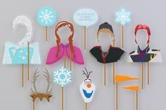 SALE  60% OFF Frozen Props Complete Characters for di Partiez