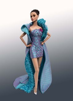 12inch Poppy Parker - by Integrity Toys wearing Jetson OOAK Gown by Tom Courtney; Photo by Tom Courtney