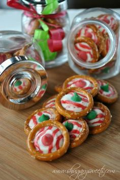 Cute for the holidays Peppermint Pretzels, salty and sweet, can't be beat.
