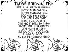 Rainbow Fish song. Great book, maybe could compose a