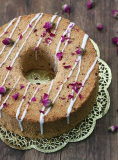 Cuisine Paradise | Singapore Food Blog - Recipes - Food Reviews - Travel: 5 Assorted Chiffon Cakes Recipes plus A Demo Clip And Giveaway - Rose Tea Chiffon