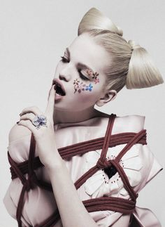 Daphne Groeneveld tied up shot by Paolo Kudacki for Flair Spring 2013