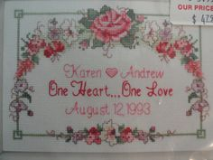 Dimensions wedding counted cross stitch kit 5x7 by LynnsLittleShop