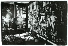 """""""I don't think anyone has ever been in a better place at a better time than I was when I was the editor of Vogue."""" Diana Vreeland photographed in her infamous office at Vogue where her bulletin board was full of inspirational images - DIana Vreeland:..."""