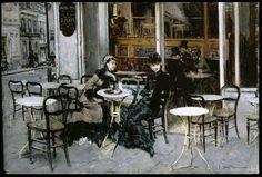 The Athenaeum - Conversation at the Cafe (Giovanni Boldini - 1877-1878)