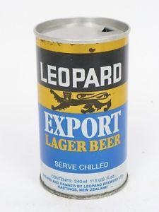 1970s New Zealand Leopard Export Lager Beer Flat Top 11.5 US Oz | eBay