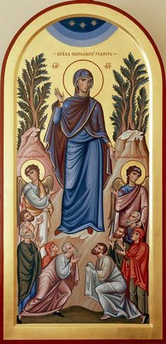 Religious Pictures, Religious Icons, Religious Art, Byzantine Icons, Byzantine Art, Blessed Mother Mary, Blessed Virgin Mary, Religious Paintings, Trinidad