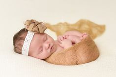 Gold Soft Mohair Knit Baby Wrap | Beautiful Photo Props