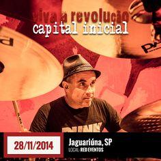 O Capital Inicial se apresenta em Jaguariúna (SP) no dia 28 de novembro, na Red Eventos: https://www.facebook.com/events/286998648155269/?ref=5