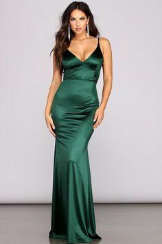Olive Green Formal Dress, Green Formal Dresses, Green Dress, Satin Dresses, Sexy Dresses, Prom Dresses, Ruched Dress, Bridesmaid Dresses, Mini Dresses