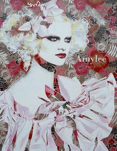 Painting © Amylee (Paris) #fashion #art Her artwork on www.amylee.fr