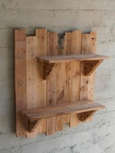 Outdoor Pallet Projects pallet home decor pallet garden pallet outdoor project diy pallet ideas with Shelves Planter pallet - Pallet wall shelves made with repurposed pallets. They can be used as flower pots bases for a vintage garden or … Pallet Home Decor, Wooden Pallet Projects, Wooden Pallets, Pallet Furniture, 1001 Pallets, Furniture Ideas, Furniture Nyc, Outdoor Furniture, Pallet Decorations