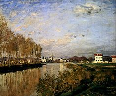 The Seine at Argenteuil - Claude Monet, French Impressionist Painter (1840…