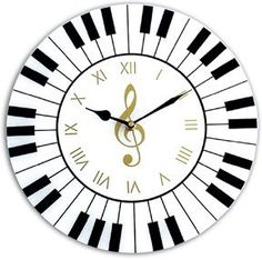 The Piano Wall Clock is an awesome housewarming gift idea for a pianist or musician! This unique clock makes for a beautiful piece of home decor. Wall Clock Gift, Diy Clock, Music Clock, Handmade Wall Clocks, Diy Wood Wall, Wood Clocks, Music Gifts, Dremel, Music Notes