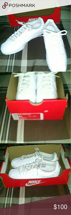 Nike Cortez white shoes | Nike cortez white, Nike cortez and Athletic shoes