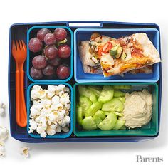 Turn pizza leftovers into a cute and balanced lunch for your kid.