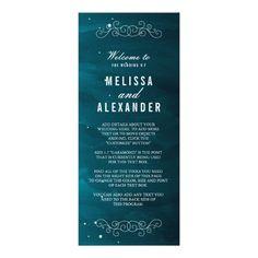 Stargazer Wedding Program
