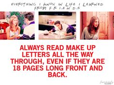 Always read make up letters all the way through even if they are 18 pages front and back