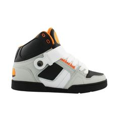 Shop for Mens Osiris NYC 83 Skate Shoe in GreyBlackOrange at Journeys Shoes. Shop today for the hottest brands in mens shoes and womens shoes at Journeys.com.High-top skate shoe from Osiris featuring a leather upper with patent accents and a padded tongue and collar for comfort. Please note that this shoe runs small; please order one size up. $39.99