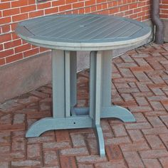 The ruggedly durable Highwood Recycled Plastic 36 in. Round Patio Dining Table seats two or three for morning coffee or stargazing out in the fresh.