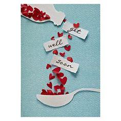 get well soon / bon rétablissement Cute Cards, Diy Cards, Tarjetas Diy, Karten Diy, Get Well Cards, Paper Cards, Creative Cards, Creative Ideas, Scrapbook Cards