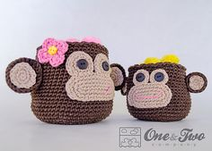 Ravelry: Monkey Crochet Baskets - 2 sizes pattern by Carolina Guzman