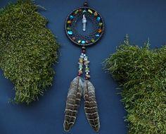 Dreamcatcher hanging rear view mirror charm by DeiDreamCatchers