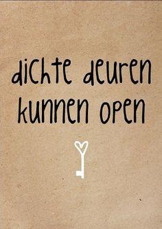 Dichte deuren kunnen open #zinvol