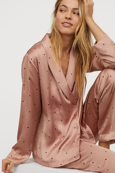 Pajamas For Women Sleepwear Pink Silk Pajama Set Ladies Lingerie Most Comfortable Pajamas In The World Pink Silk Pajamas, Satin Pajamas, Pyjamas, Womens Silk Pajamas, Sleepwear Women, Loungewear, Silk Sleepwear, Pijama Satin, Most Comfortable Pajamas