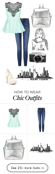 """""""New York for college"""" by armamak on Polyvore featuring Frame Denim, City Chic, Michael Antonio and Kin by John Lewis"""