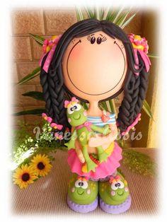 Boneca Fofucha em Biscuit, totalmente modelada à mão sem uso de moldes. Cores vivas e estilo apaixonante!   BONECA VENDIDA. PODE SER FEITA POR ENCOMENDA!   FRETE SOB CONSULTA! R$ 75,00