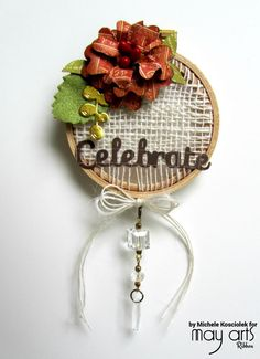 Ribbon Weaving on a 'Celebrate Fall' Wall Hanging