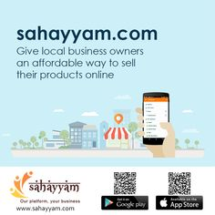 Start a profitable online store and sell online  Sahayyam give local business owners an affordable way to sell their products online   http://sahayyam.com Our platform, your business. #SellingOnline #OnlineStore #OnlineSellers #OnlineShopping #order #Shop #online #Sahayyam #ShopOnline #eCommerce #DigitalIndia #business #GooglePlay #AppStore