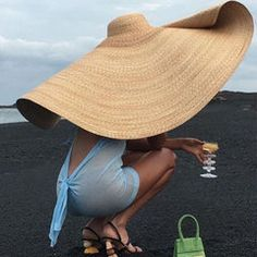 Women's Fashion Wide-brimmed Summer Beach Hat Women's Fashion Wide-brimmed Summer Beach Hat – modvivi Thalia, Floppy Straw Hat, Straw Hats, Wide Brim Sun Hat, Jacquemus, Wide-brim Hat, Large Women, Summer Hats, Aliexpress