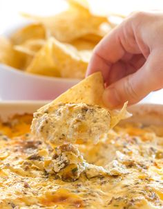 "This ""Hissy Fit Dip"" with the crazy moniker is a HUGE party hit - sausage, cream cheese, sour cream, two cheeses, chives and seasonings make this one absolutely irresistible! 