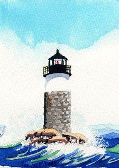 Seattle Washington West Point Lighthouse /& Mt Rainier Chris Oldham Art Prints