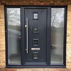 Composite doors in anthracite grey.