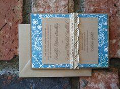Handmade Vintage Wedding Invite